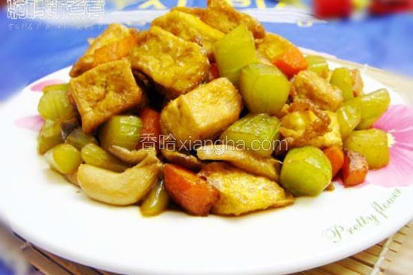彩蔬烩豆腐