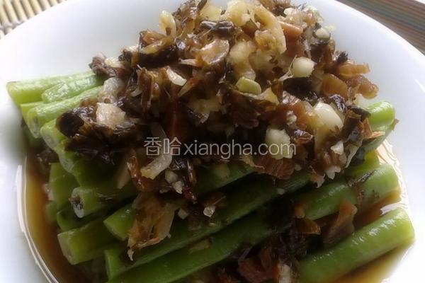 虾米糟菜拌豇豆