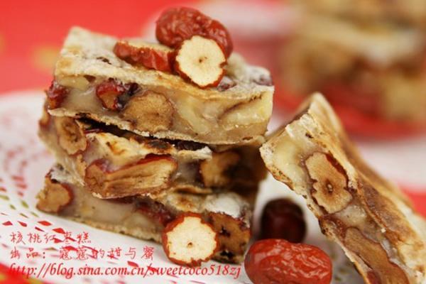 核桃红枣糕