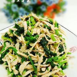 红油鸡丝菠菜的做法[图]