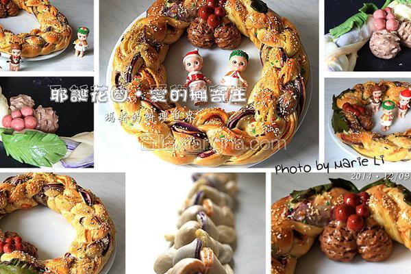 耶诞花圈面包‧爱