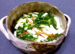 清清白白——豌豆苗豆腐汤