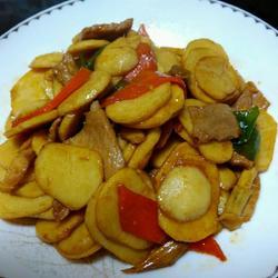 慈菇炒肉片