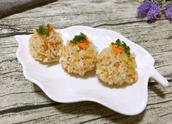 玉米胡萝卜糯米珍珠丸子