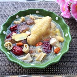 沙虫粉丝鸡汤
