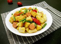 豆角火腿炒馒头