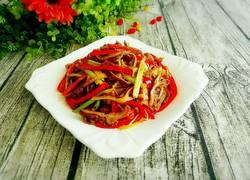 红椒炒肚丝