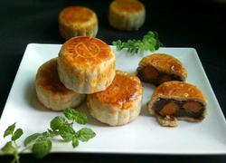 豆沙双黄月饼