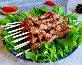 微波炉烤羊肉串[图]