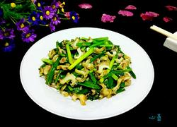 海螺炒韭菜