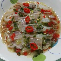 五花咸肉蒸白菜