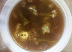 肉片菜花汤