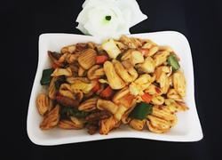 肉丝蔬菜炒麻食