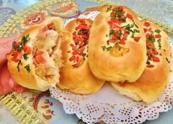 香葱火腿肉松面包