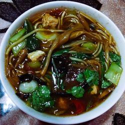 农家黄花菜粉汤的做法[图]