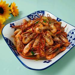 炒毛脚河虾